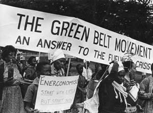 greenbelt movement Green belt movement took place in kenyain which about 30 million trees were planted across the country.